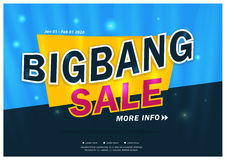 Bigbang försäljningsbaner Royaltyfri Bild