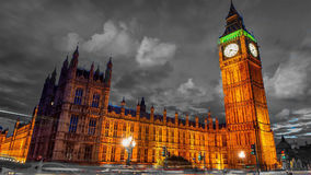 BigBen - At Night - London black backround Stock Photo