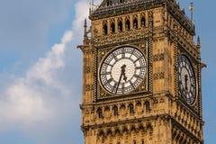 Bigben zegarowy wierza przy dniem Obraz Royalty Free