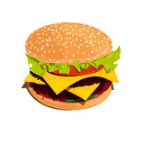 Bigburger vector illustration. Bigburger color vector illustration on white background Royalty Free Stock Photos