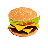 Bigburger wektoru ilustracja Zdjęcia Royalty Free