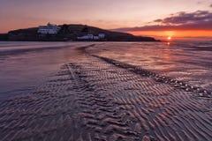 Bigbury auf Meer, Burgh-Insel lizenzfreies stockfoto