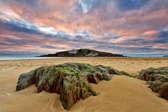 Bigbury auf Meer, Burgh-Insel stockfotos
