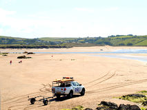 Bigbury auf Meer, Devon. Stockbild