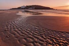 bigbury burgh wyspy morze Zdjęcie Stock