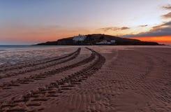 Bigbury en el mar, isla del municipio escocés fotografía de archivo