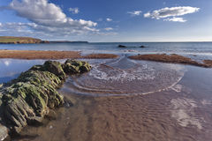 bigbury morze Obraz Royalty Free