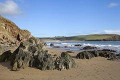 Bigbury sur la mer, Devon, Angleterre Photographie stock