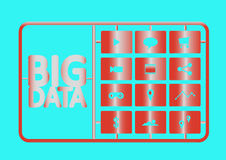 Bigdata. Business bigdata connecting internet technology computer royalty free illustration