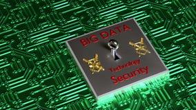 Bigdata, Security, Technology Stock Image