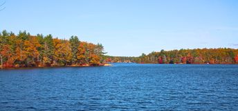 Bigelow Pond autumn Royalty Free Stock Photography