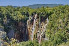 Bigest водопад (шлепок Veliki) на озерах Pltvice Стоковое Изображение
