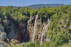 The bigest waterfall (Veliki Slap) at Pltvice Lakes Stock Image
