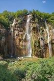 The bigest waterfall (Veliki Slap) at Pltvice Lakes Stock Photos