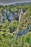 The bigest waterfall (Veliki Slap) at Pltvice Lakes Stock Images