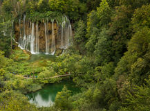 Bigestwaterval in het Nationale Park van Plitvice Stock Foto's