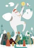 Bigfoot bianco enorme illustrazione di stock