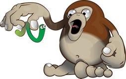 Bigfoot contro il lombrico Fotografie Stock Libere da Diritti