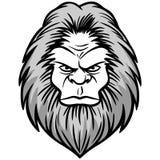 Bigfoot-Kopf-Illustration vektor abbildung