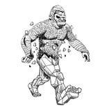 Bigfoot kristall royaltyfri illustrationer