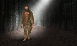 Bigfoot, Sasquatch, homem das cavernas, homem de caverna ilustração do vetor