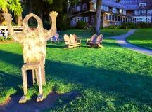 Bigfoot stol Arkivbild