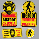 Bigfoot Warning Signs Stock Image