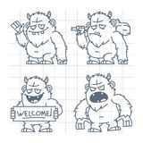Bigfoot wicked good with cudgel doodle Stock Photography