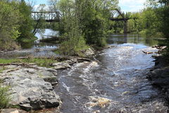 Bigfork flod Royaltyfri Foto