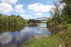 Bigfork flod Arkivfoto