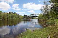 Bigfork-Fluss Stockfoto