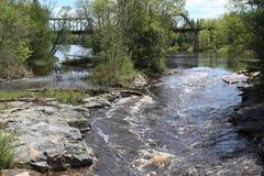 Bigfork rzeka Zdjęcie Royalty Free