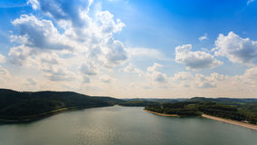 Biggesee Sauerland Germany. Nice view over the biggesee in Sauerland, Germany Stock Photo