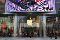 Biggest Apple Store in Asia Royalty Free Stock Photo