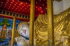 The biggest Buddha statue of Thailand temple named `Wat Den Salee Sri Muang Gan Wat Ban Den`. stock photography