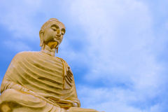 The Biggest buddha in thailand. Royalty Free Stock Photography