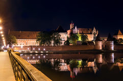 Biggest castle in Europe. Malbork in Poland. Polish castle Malbork. Gothic style. Formerly seat of Teutonic Order Royalty Free Stock Photo