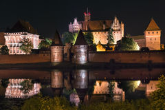 Biggest castle in Europe. Malbork in Poland. Polish castle Malbork. Gothic style. Formerly seat of Teutonic Order Royalty Free Stock Photography