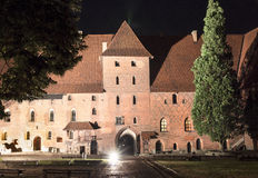 Biggest castle in Europe. Malbork in Poland. Royalty Free Stock Photos