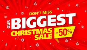 Biggest Christmas sale banner vector illustration