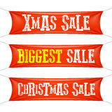 Biggest Christmas sale banners stock illustration