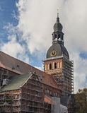 The biggest church - Dome cathedral in old Riga city, Latvia Stock Image