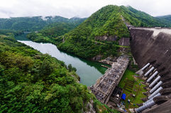The Biggest Concrete Dam in Thailand. The name of Biggest Concrete Dam in Thailand is Bhumibhol Dam Royalty Free Stock Image