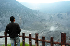 The biggest Crater in Tangkuban Parahu Bandung Indonesia Royalty Free Stock Images