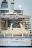 Biggest cruise ship, Allure of the Seas Royalty Free Stock Photo