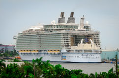 Biggest cruise ship, Allure of the Seas. Fort Lauderdale, Florida, USA - September 23, 2012: The biggest cruise ship, Allure of the Seas, docked in port of Fort Stock Photography