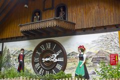 Biggest Cuckoo Clock in the World at Triberg stock photos