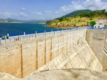Kulasinghe Reservoir Moragahakandawith huge water stock in srilanka. royalty free stock photography