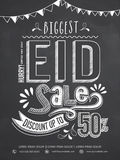 Biggest Eid sale poster, banner or flyer with discount offer. Royalty Free Stock Photo