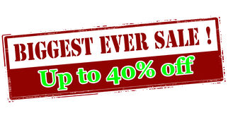 Biggest ever sale up to fourty percent off Royalty Free Stock Photography